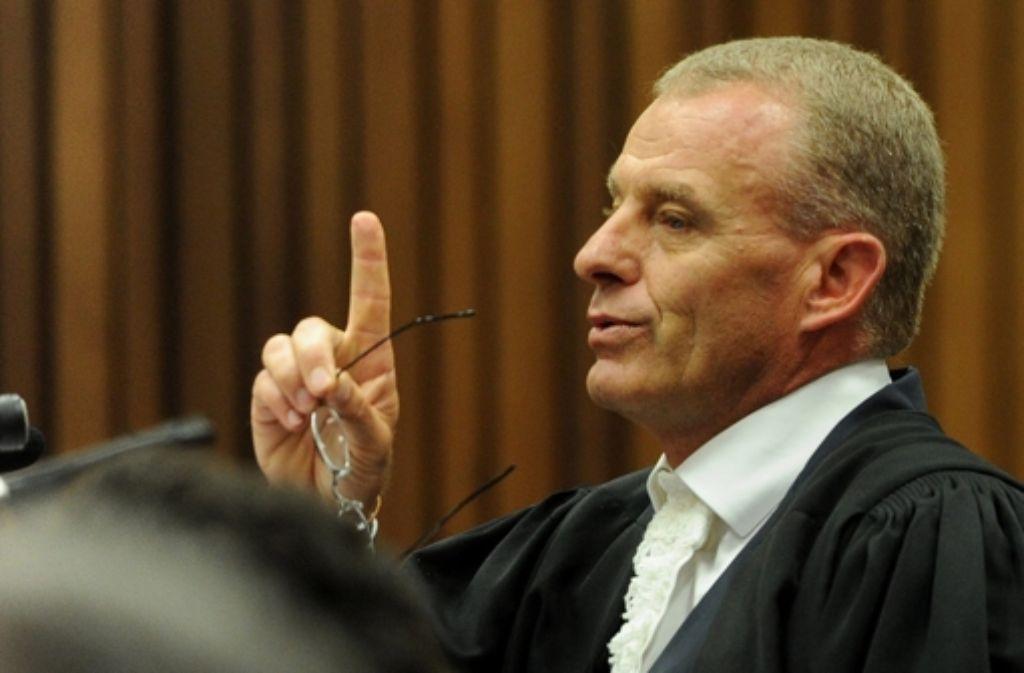 """Staatsanwalt Gerrie Nel, auch genannt """"der Terrier der Gerichtshöfe"""" Foto: dpa"""