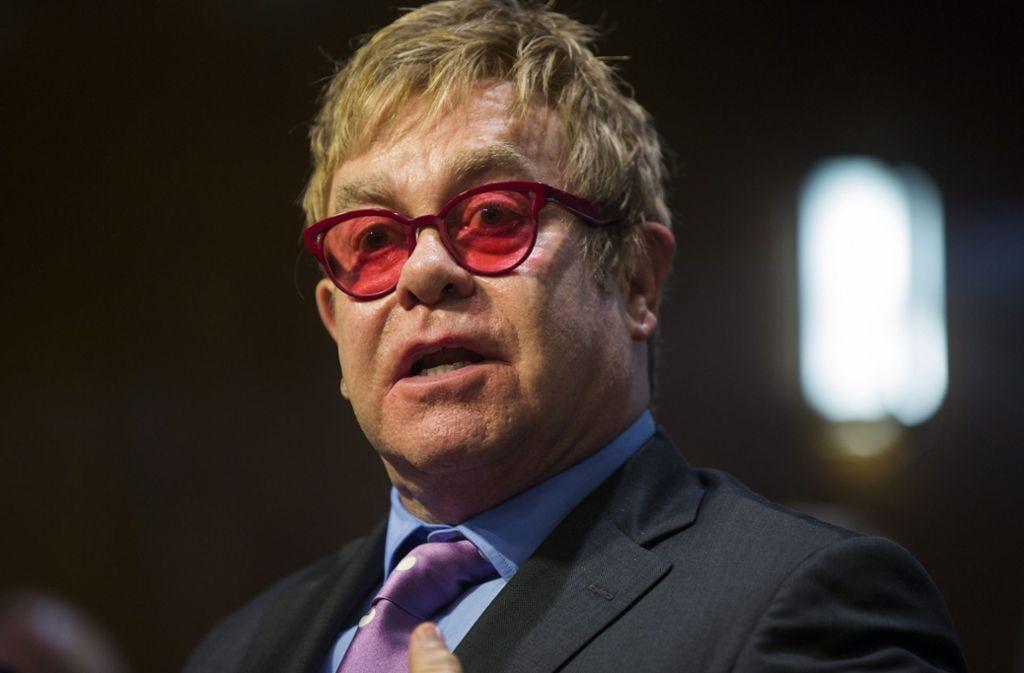 """Elton John ist vom Soundtrack des neuen """"König der Löwen""""-Films alles andere als begeistert. Foto: dpa/Jim Lo Scalzo"""