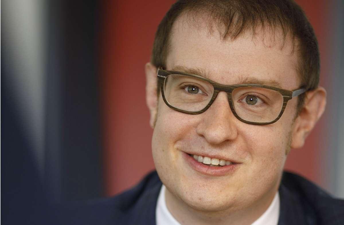 Maximilian Friedrich hat beste Chancen, neuer Backnanger Oberbürgermeister zu werden. Foto: Gottfried Stoppel