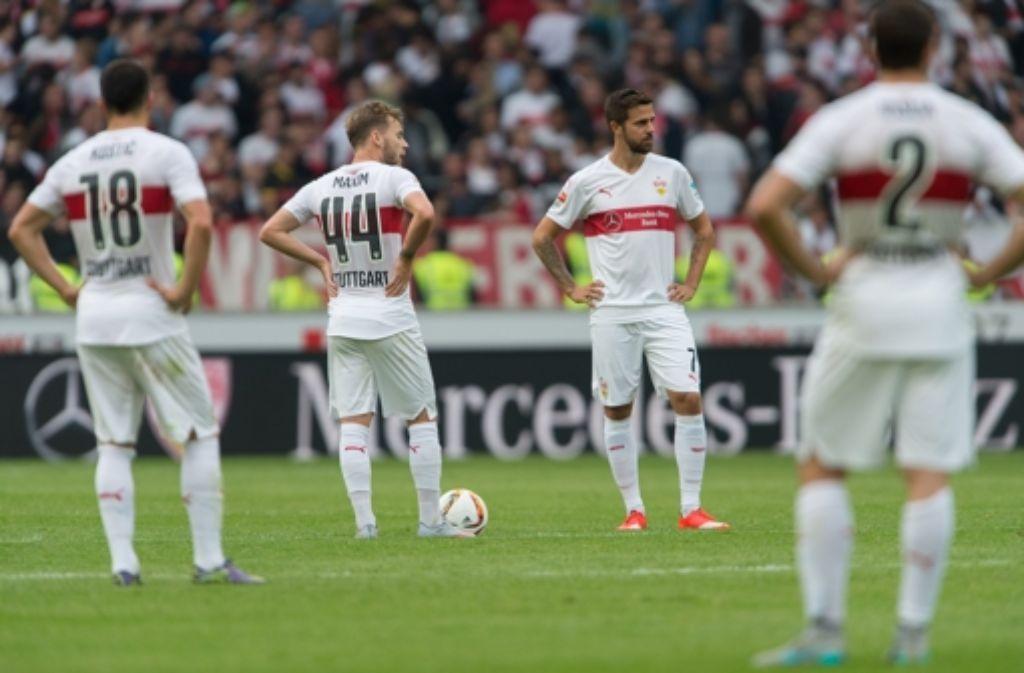 Gut gespielt, trotzdem verloren: der VfB Stuttgart gegen Mönchengladbach. In der folgenden Fotostrecke beurteilen wir die Leistung der VfB-Spieler am Samstag. Foto: dpa