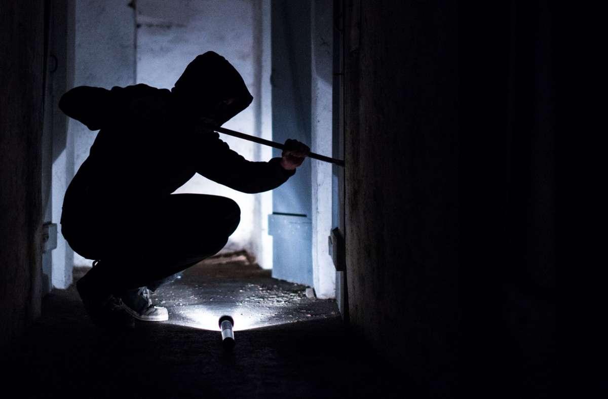 Die Einbrecher hebelten wohl Türen oder Fenster auf. (Symbolbild) Foto: dpa/Silas Stein