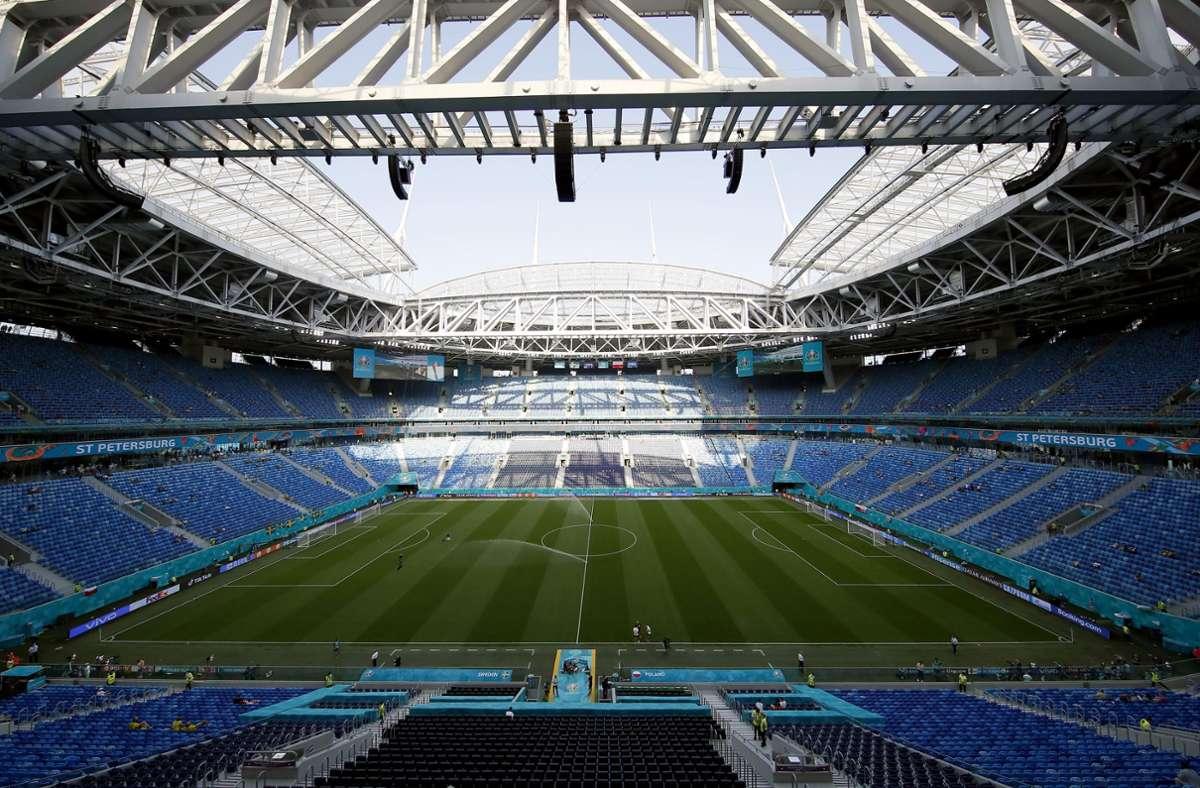 In St. Petersburg wird ein EM-Viertelfinale ausgetragen. Foto: dpa/Maxim Shemetov
