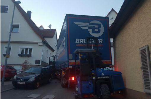 Lastwagen macht sich selbstständig