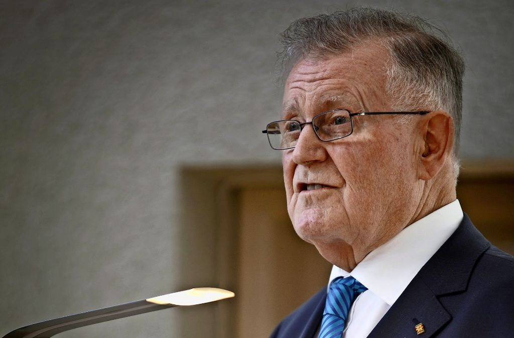 Alt-Ministerpräsident Erwin Teufel war in Waiblingen zu Gast. Foto: Gottfried Stoppel