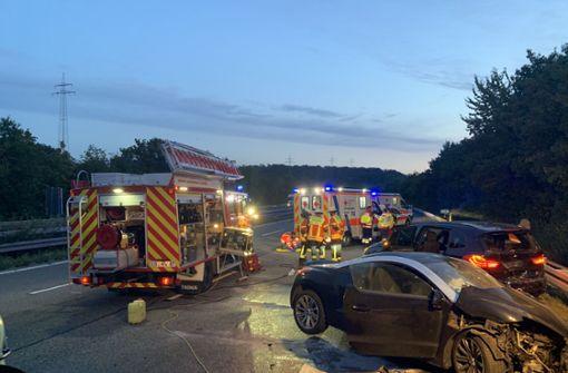Mehrere Verletzte nach heftigem Crash – A81 voll gesperrt