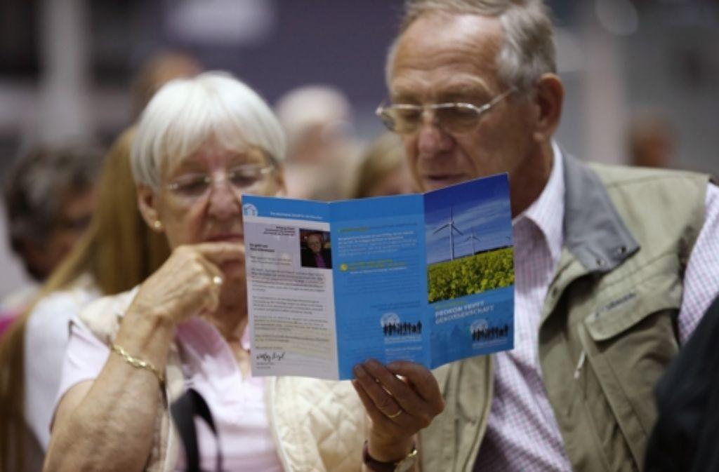 Die Prokon-Gläubiger haben sich für das Genossenschaftsmodell und gegen die Übernahme durch die EnBW entschieden. Foto: dpa