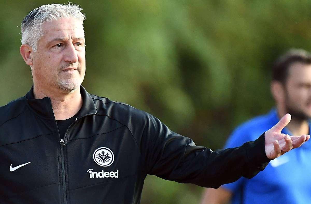 Einer von zahlreichen Ex-Profis im Trainerstab von Eintracht Frankfurt: Jürgen Kramny. Foto: imago/Jan Hübner