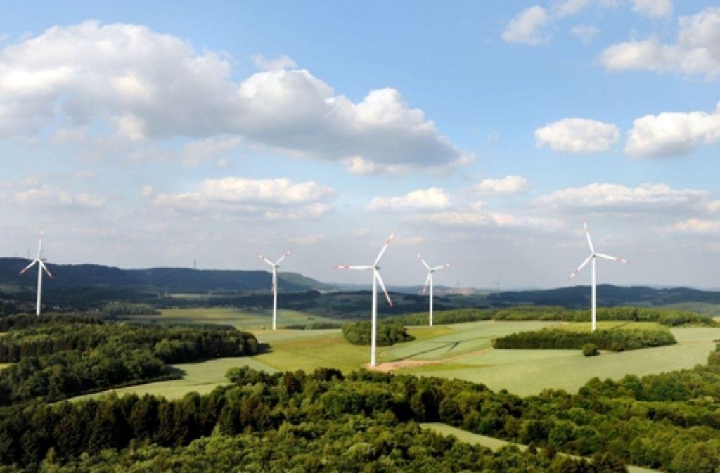 Einer der 17 EnBW-Windparks, für die die EnBW Kapital bei Bürgern einsammelt. Foto: EnBW