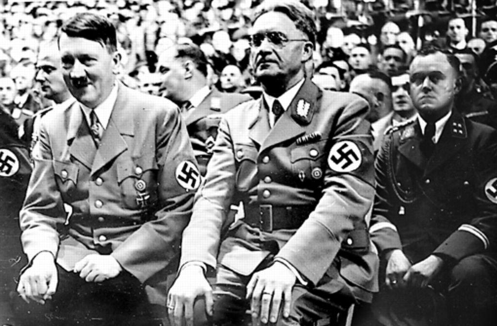 Hitler und der Gauleiter von Württemberg Hohenzollern, Wilhelm Murr Foto: Archiv
