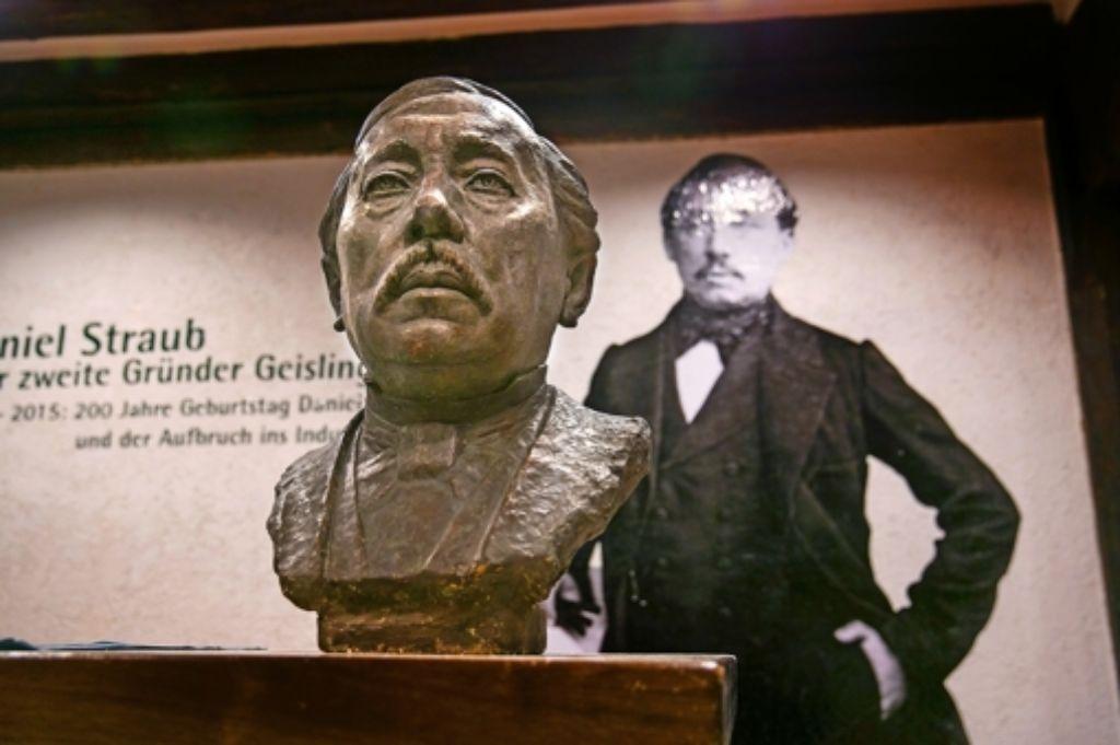 Zweimal Daniel Straub, der Müller, WMF-Stammvater und zweiter Gründer Geislingens. Foto: Horst Rudel