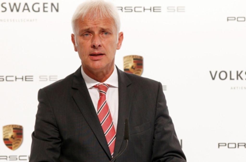 """Mit einer  Umsatzrendite von 18,5 Prozent nimmt Porsche laut Vorstandschef Matthias Müller   """"eine herausragende Stellung innerhalb der Automobilindustrie ein"""". Foto: dapd"""