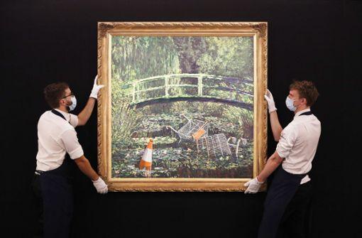 Banksy-Werk für mehr als acht Millionen Euro versteigert