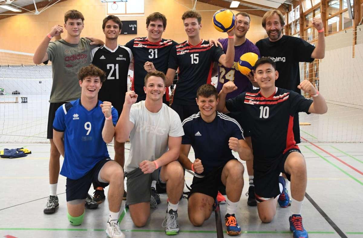 Volleyball-Gäste aus Österreich vom VV Döbling beim Vorbereitungsturnier in Fellbach Foto: Maximilian Hamm/Maximilian Hamm