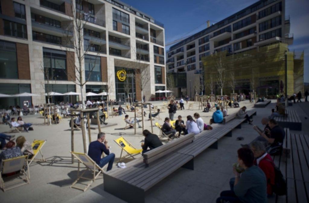 Tagsüber wird das Europaviertel in Stuttgart durch das Einkaufszentrum Milaneo belebt. Abends sieht es dort anders aus. Foto: Lichtgut/Max Kovalenko