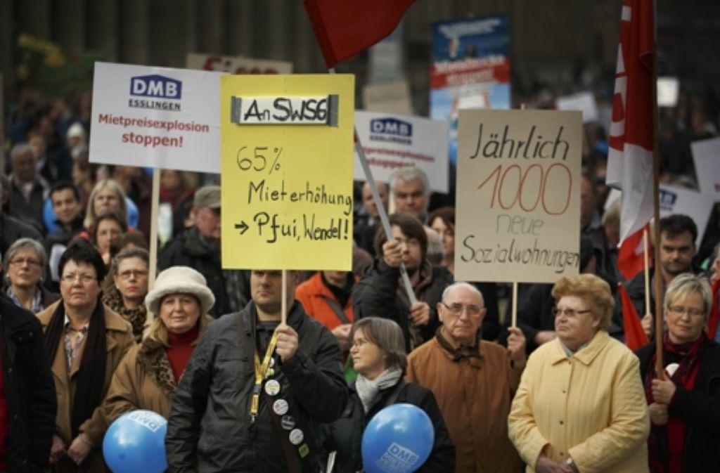 Die Demo gegen hohe Mieten war die erste dieser Art seit dreißig Jahren. Foto: Gottfried Stoppel