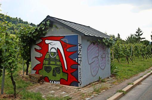 Wengerterhaus besprüht