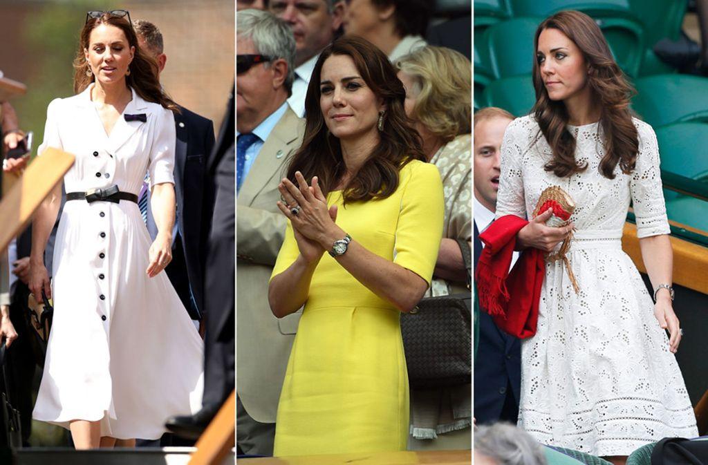 Herzogin Kate präsentiert jedes Jahr neue Wimbledon-Looks. Foto: dpa