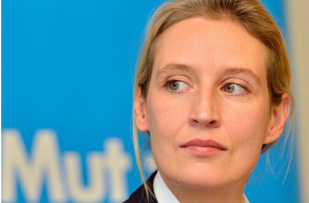 Die Ernennung von Alice Weidel als Spitzenkandidatin gibt den Kurs der Alternative für Deutschland im Bundestagswahlkampf vor. Foto: dpa