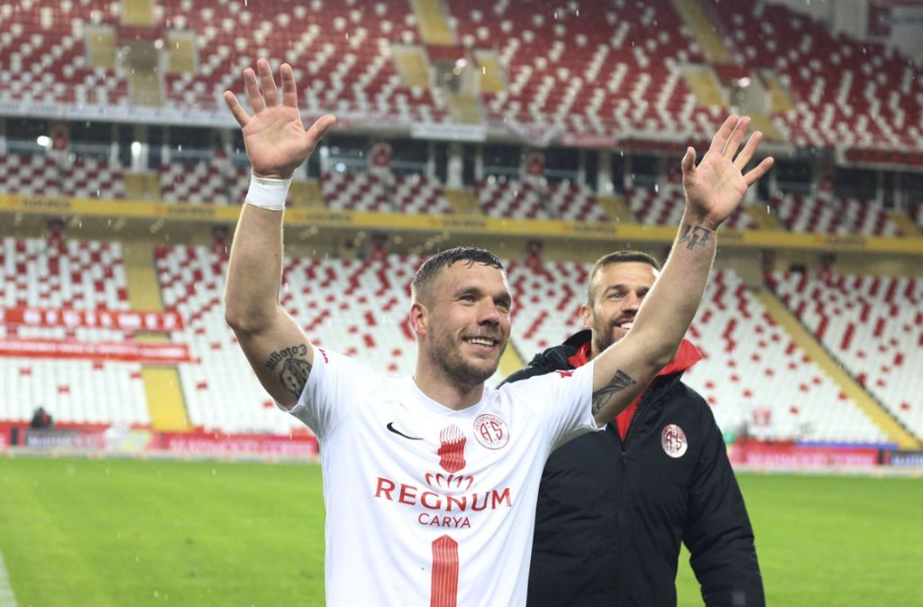 Lukas Podolski und Antalyaspor liegen nach dem Sieg auf Platz elf. Foto: AP