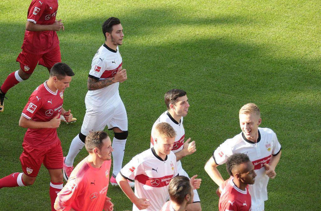 So lief der VfB-Trainingsauftakt am Montag ab. Foto: Pressefoto Baumann