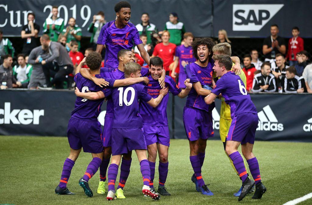 Die Engländer bezwingen im Finalspiel SK Rapid Wien mit 3:2. Foto: Pressefoto Baumann