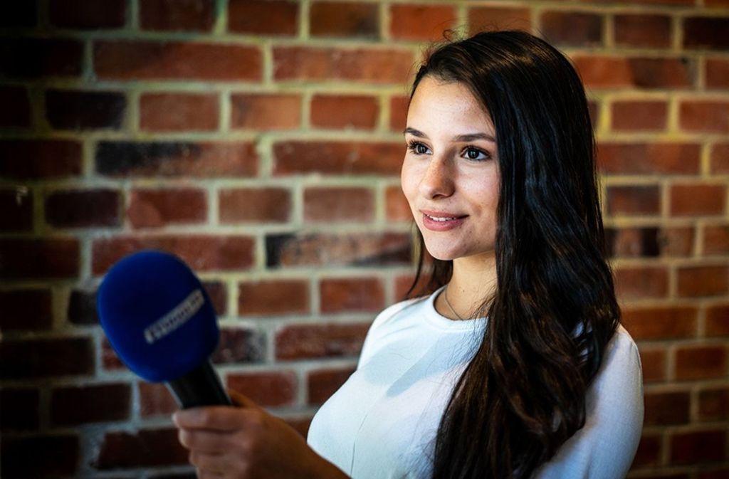 Reporterin Morena Dattila bei der Arbeit Foto: Stuggi.TV