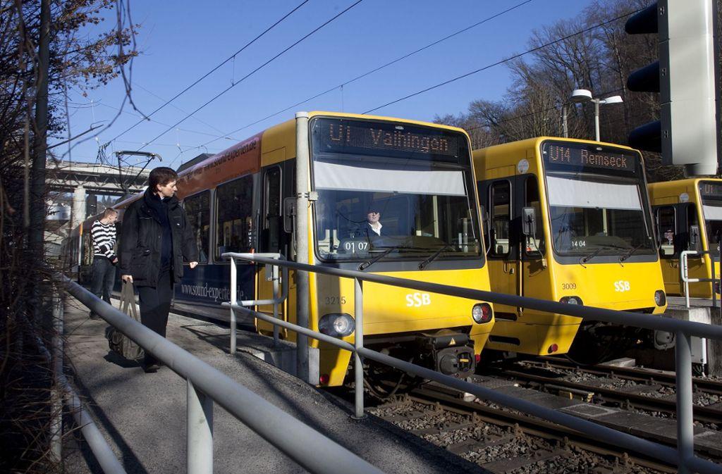 Die SSB muss die Bahnsteige verlängern. Foto: /Horst Rudel