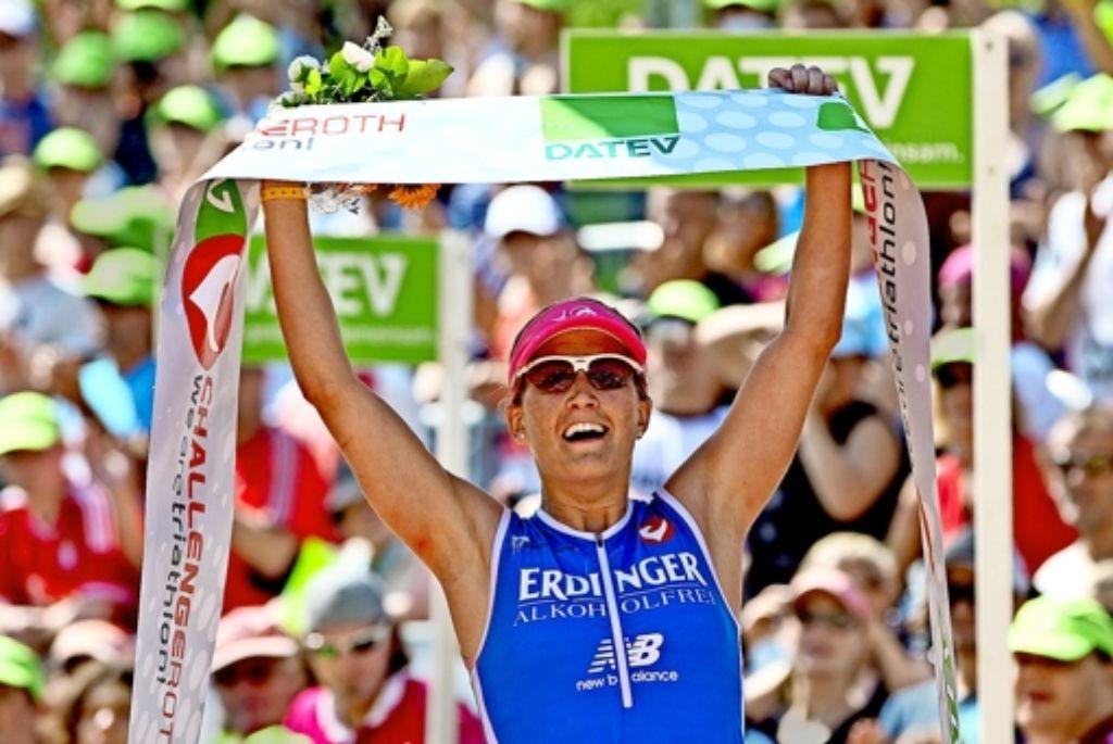 Julia Gajer hat sowohl 2013 als auch 2014 bei der Challenge Roth den  deutschen Meistertitel auf der  Langdistanz gewonnen. Foto: dpa
