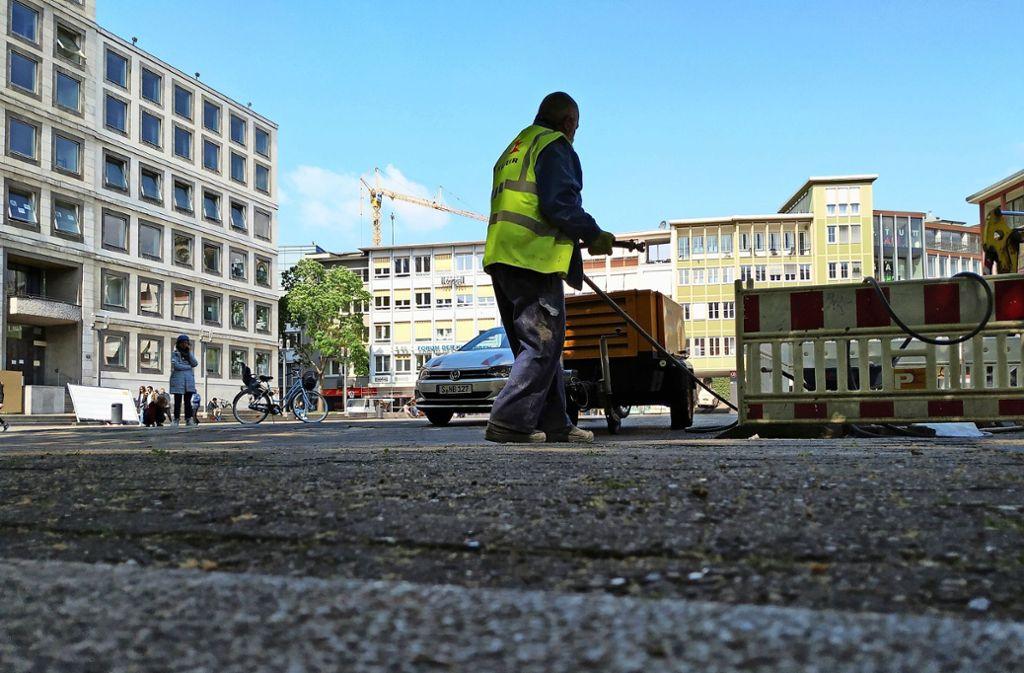 Die Sanierung des  Marktplatzes ist durch die Coronakrise in die Diskussion geraten: Sollte man die Arbeiten vorziehen? Oder  auf das Jahr 2023 verschieben? Foto: /Hans Jörg Wangner