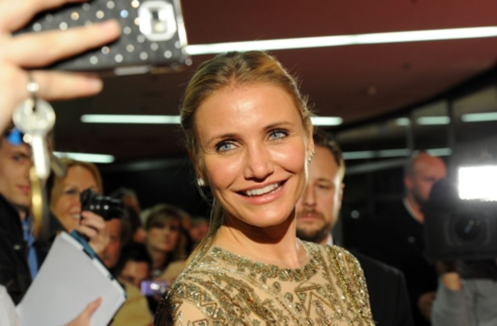 Selfie mit dem Hollywood-Star: Cameron Diaz war am Montag in München. Foto: Getty Images Europe