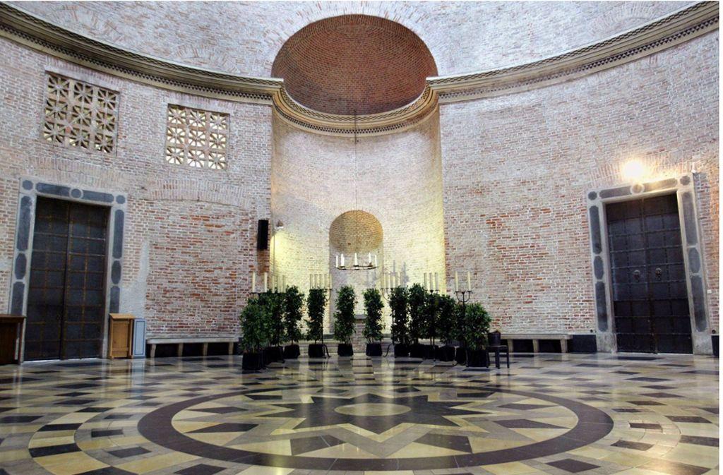 Kein Vergleich zu Remseck: Die Trauerhalle des Münchner Ostfriedhofs Foto: dpa