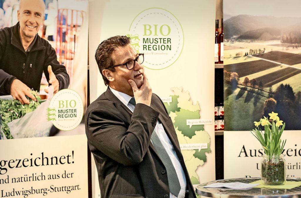 Mehr bio für Ludwigsburg: Landwirtschaftsminister Peter Hauk. Foto: factum/Weise