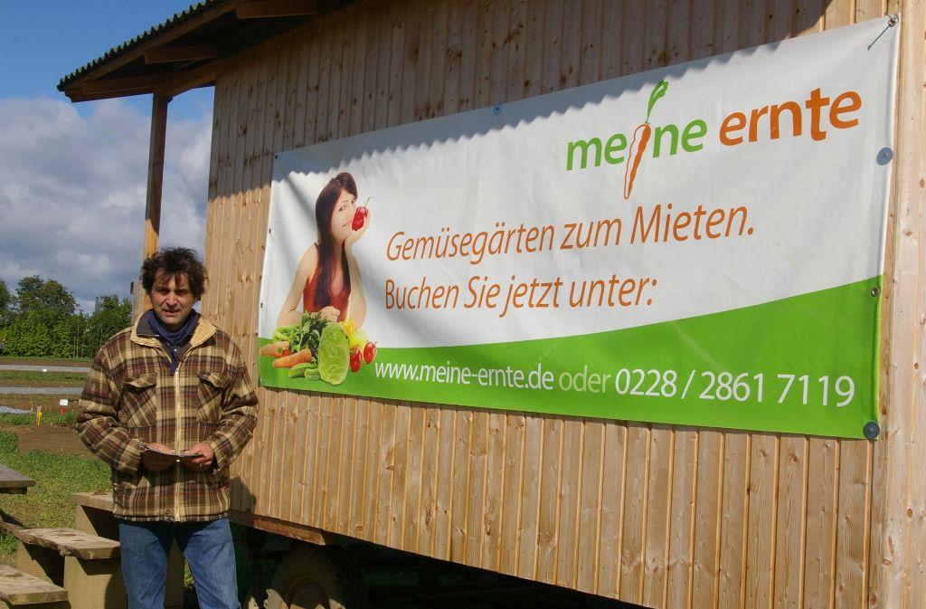 Landwirt Klaus Brodbeck stellt die Flächen für die Leihgemüsegärten. Foto: Alexandra Kratz