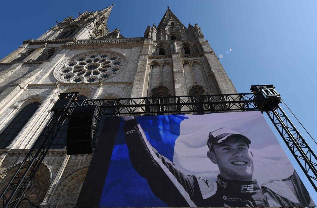 Am Dienstag fand die Trauerfeier von Anthoine Hubert statt. Foto: AFP