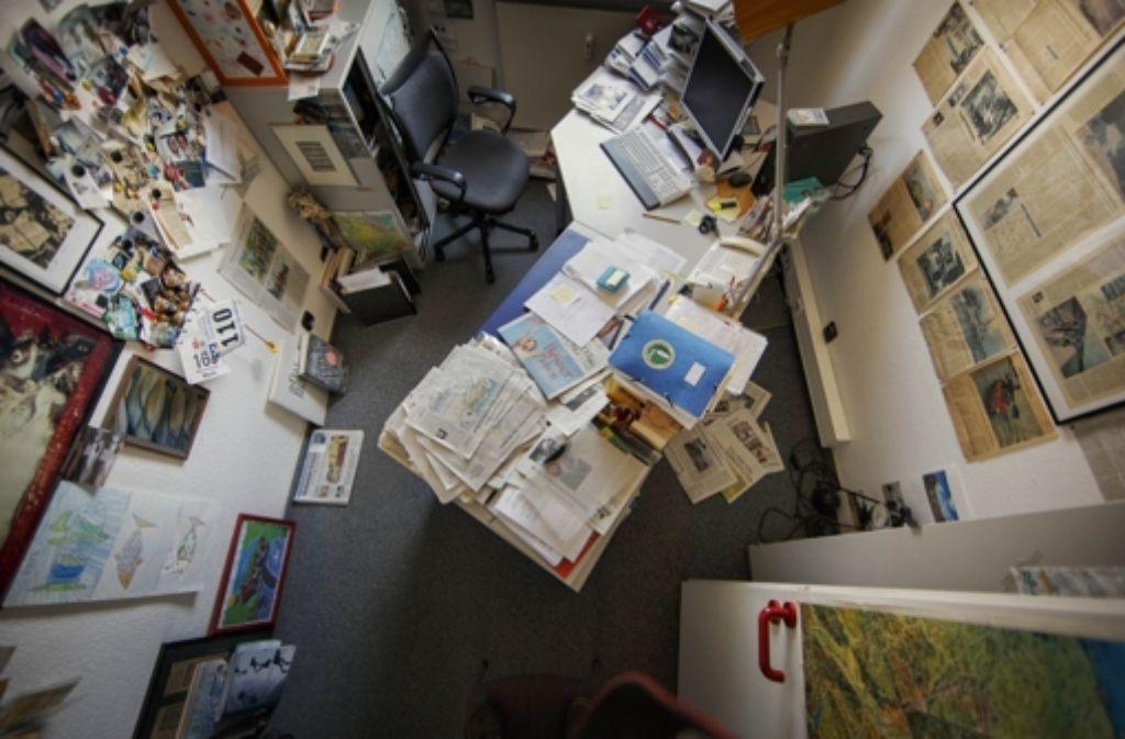 Keiner da: der Arbeitsplatz von Martin Tschepe ist montags immer verwaist. Foto: Gottfried Stoppel