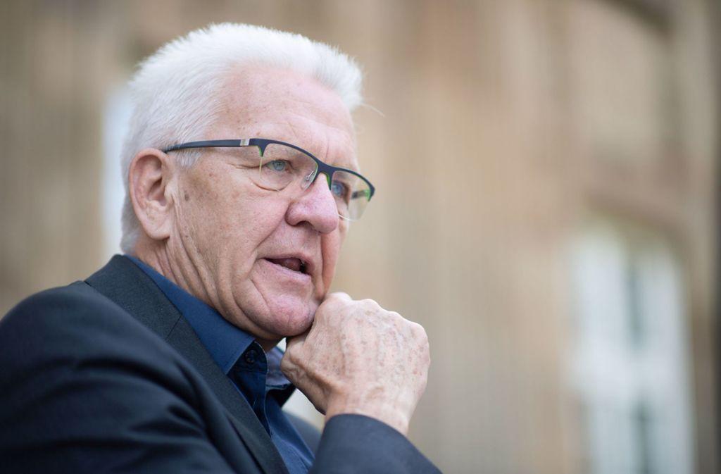 Ministerpräsident Kretschmann: Landesweit sterben die Wälder. Foto: dpa