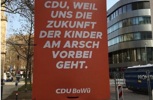 Gefälschte CDU-Wahlplakate aufgetaucht