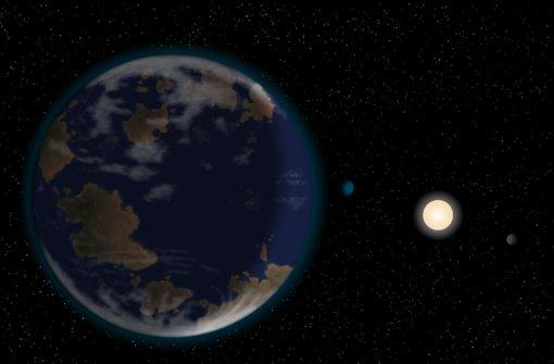 So hübsch blau könnte der Planet HG 40307 g aussehen – aber trauen Sie nie den Fotos in einem Reiseprospekt! Foto: J. Pinfield/University of Hertfordshire
