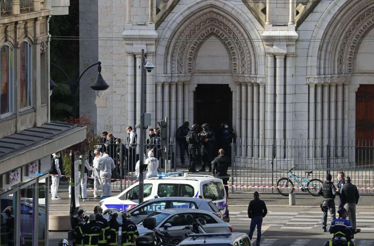 Ein Angreifer hatte am Donnerstag drei Menschen in Nizza getötet. Foto: dpa/Valery Hache