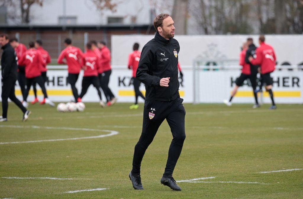 VfB-II-Trainer Andreas Hinkel: Die Rettung des Regionalligateams ist alles andere als eine leichte Aufgabe. Foto: Baumann