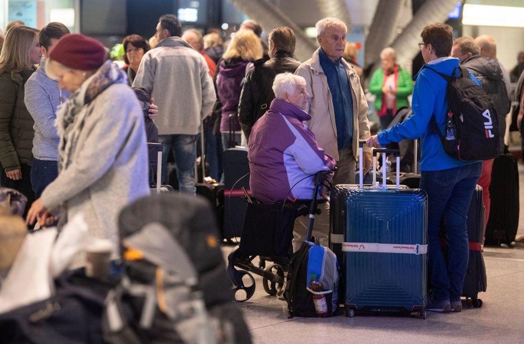 Am Stuttgarter Flughafen gab es Warnstreiks. Foto: dpa