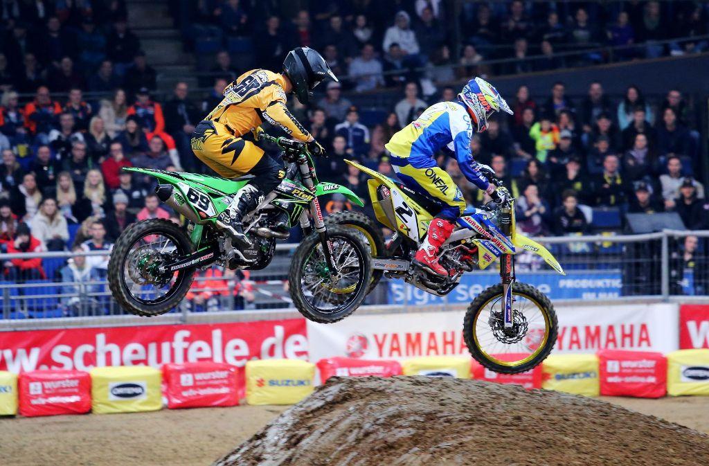 Die Motocross-Veranstaltung in der Schleyerhalle feiert ihre 35. Auflage. Foto: Pressefoto Baumann