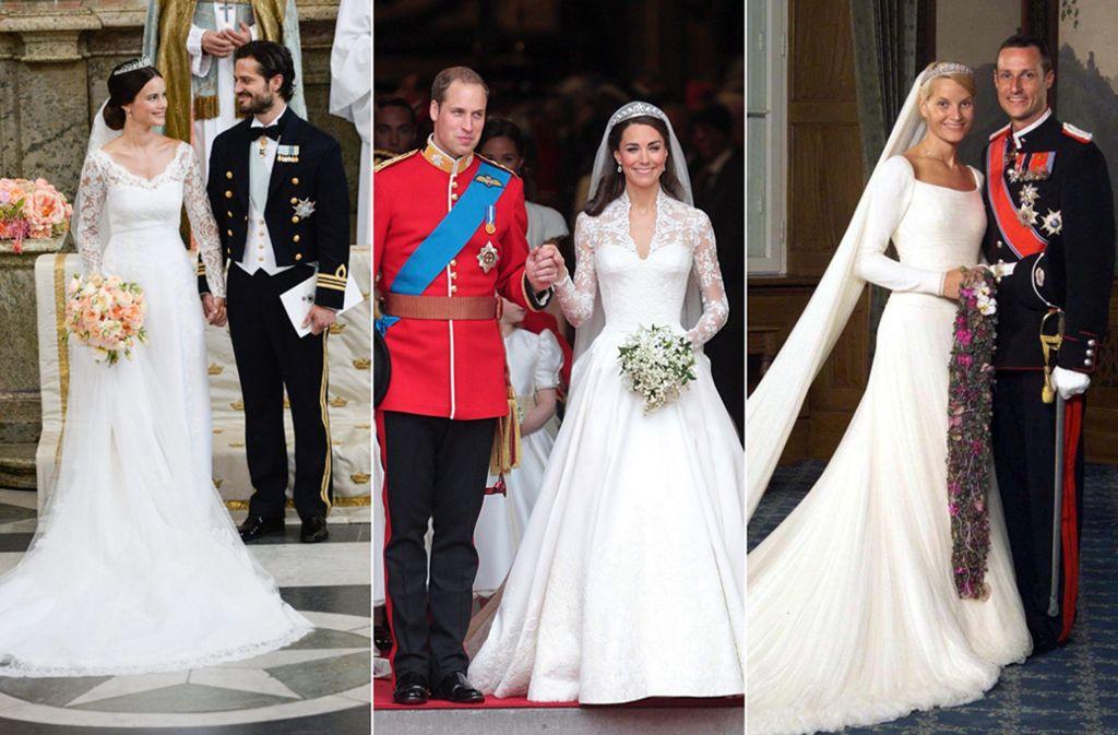 Was trägt Prinzessin Eugenie, wenn sie die Frau von Jack Brooksbank wird? Vielleicht lässt sie sich von Brautkleidern anderer Prinzessinnen inspirieren ... Foto: dpa