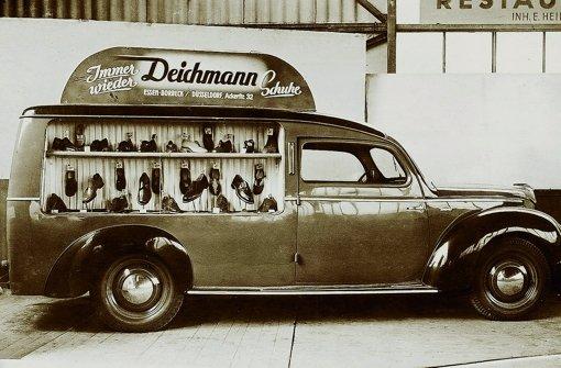Mit diesem Wagen ging Deichmann in den 50er Jahren auf Tour. Foto: Deichmann