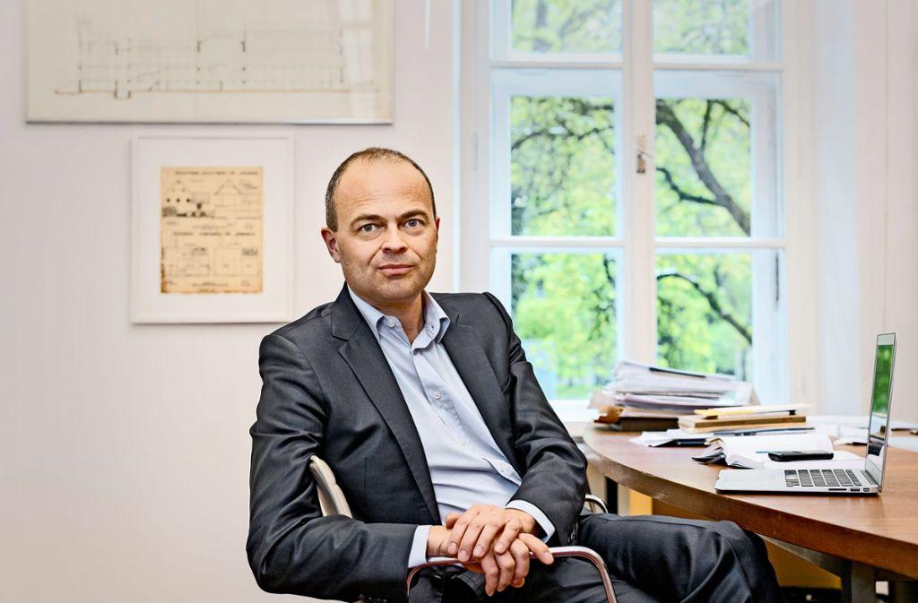 """Mag höchstens """"unfreiwillige Heimatarchitektur"""": Stefan Trüby, seit April 2018 Leiter des    IGMA Foto: Andreas Heddergott"""