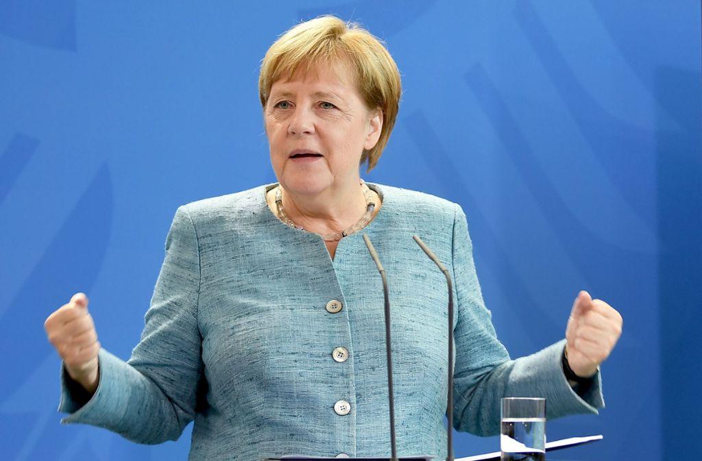 Bundeskanzlerin Angela Merkel befürwortet Neuregelung für mehr Organspenden. Foto: dpa-Zentralbild