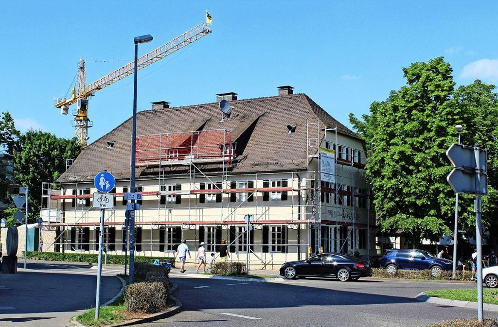Die Garbe an der Plieninger Filderhauptstraße sieht farblich nun wieder eher so aus wie anno dazumal. Foto: Jacqueline Fritsch