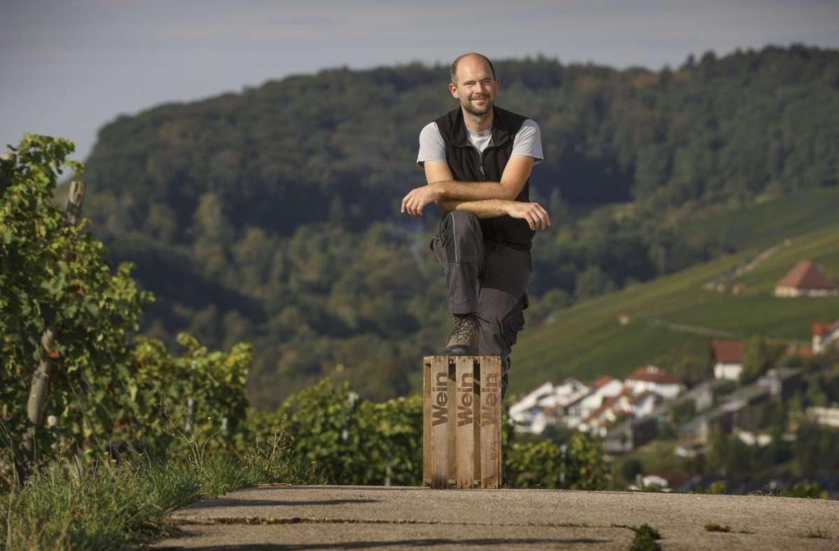 Sorgt für viele positive Schlagzeilen mit seinen Weinen: Jungwinzer Michael Maier Foto: Gottfried / Stoppel