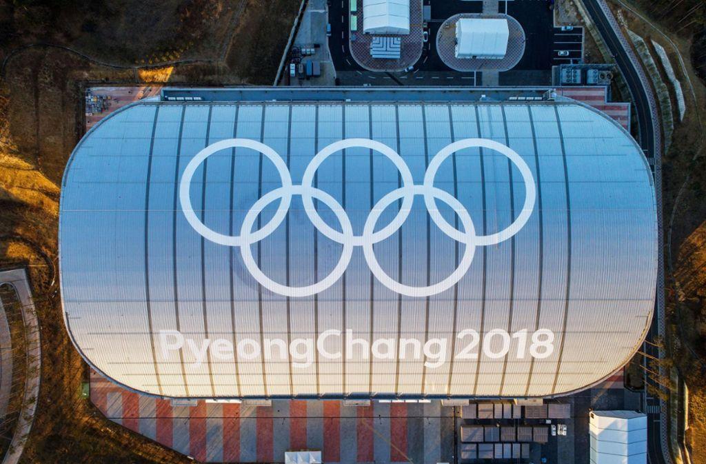 Im Gangneung Oval finden bei den Olympischen Spielen in Pyeongchang die Showdowns im Eisschnelllaufen statt. Foto: dpa