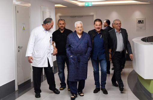 Palästinenserpräsident verlässt Krankenhaus